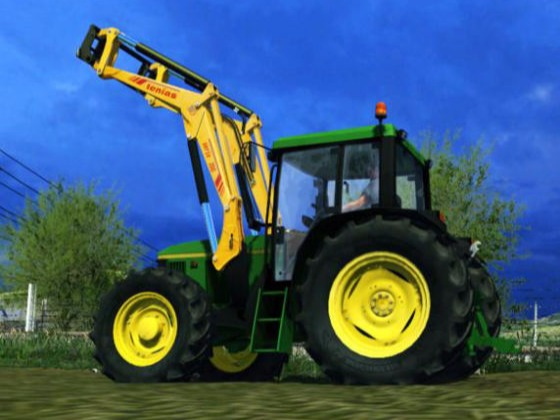 tractor with a wheel loader